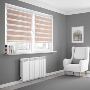 Light Pink Day and Night Blinds Made To Measure in Crystal Rose
